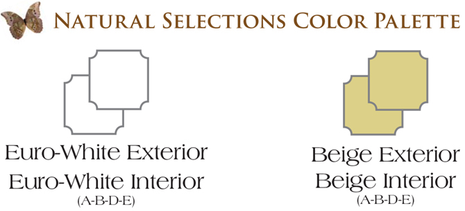 NH Chateau Window Series Natural Selections Color Palette Vinyl Replacement & New Construction Windows