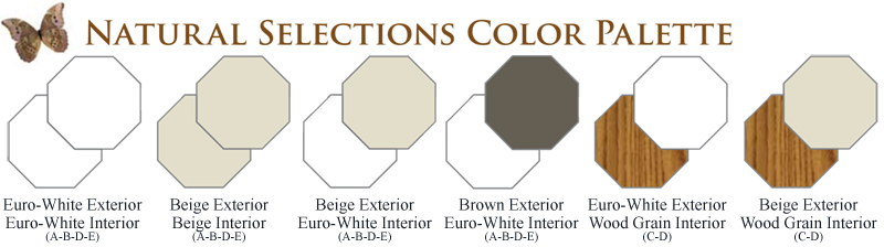 NH Operating Octagon Window Series Natural Selections Color Palette Vinyl Replacement & New Construction Windows